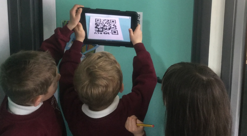 QR codes to hunt for minibeast pictures