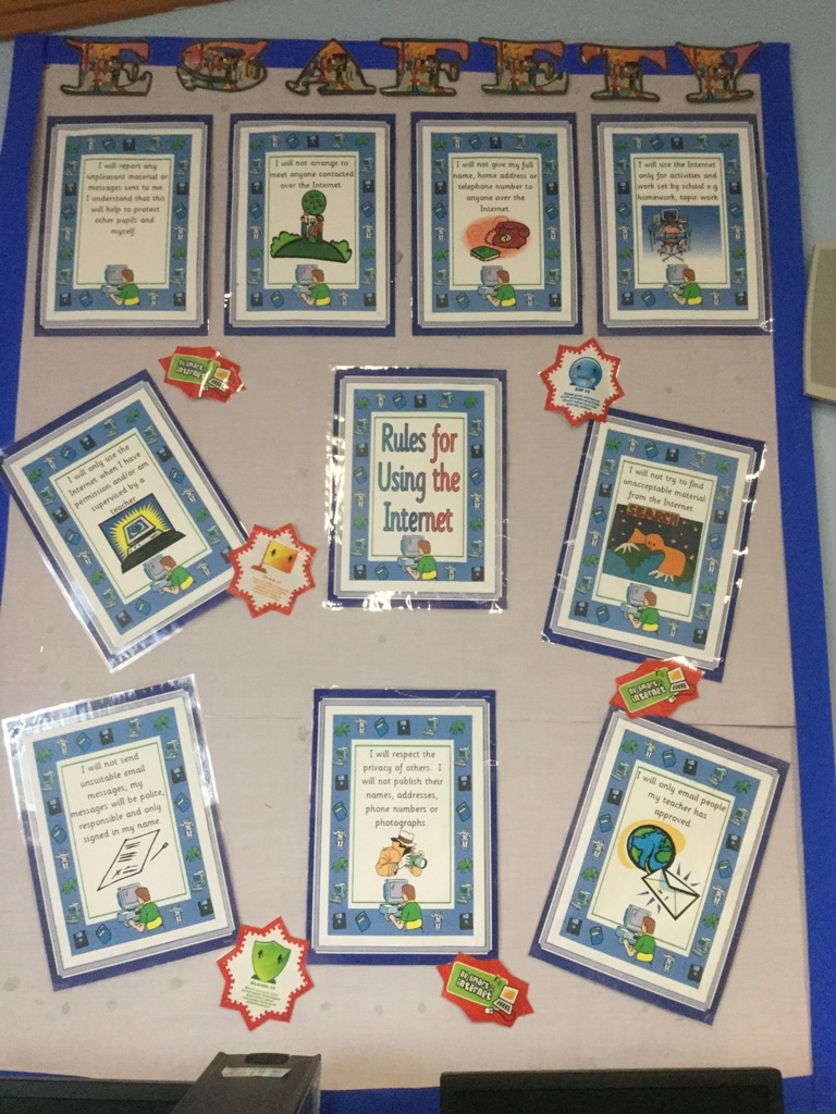 Our e-Safety rules are on display in school.