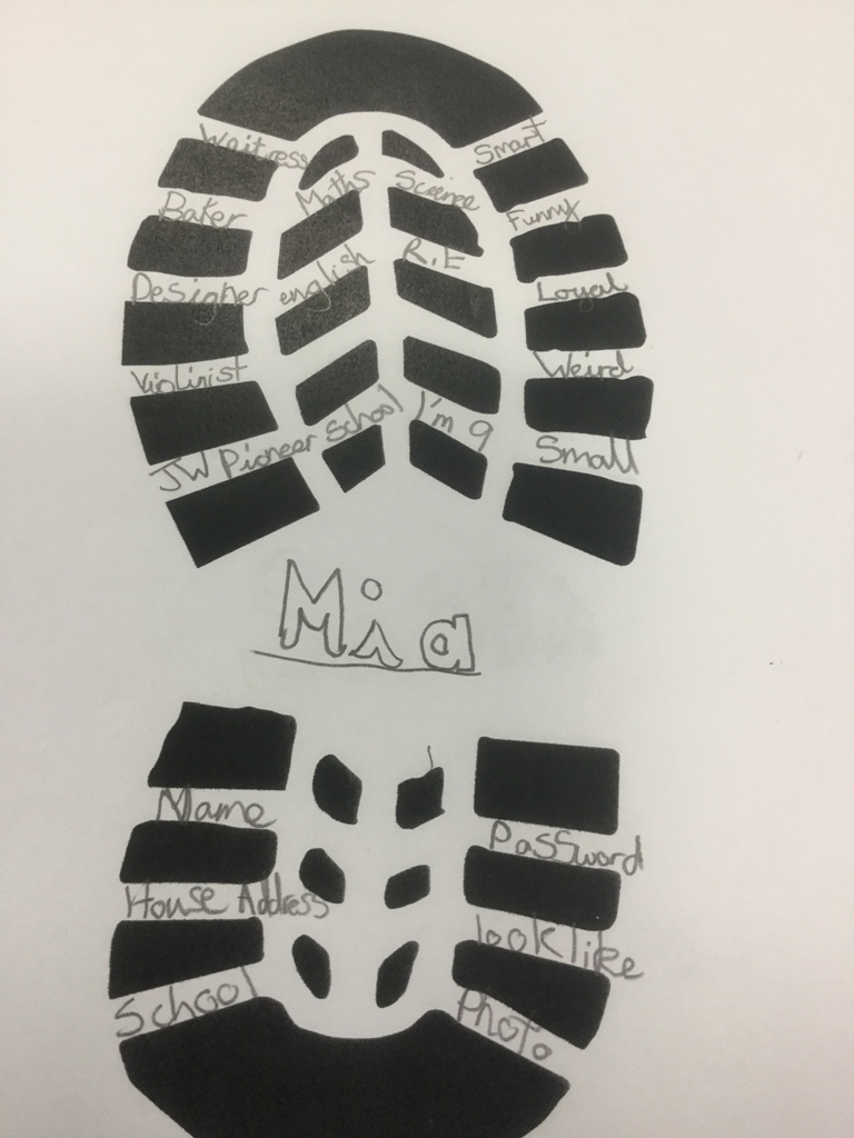 Year 4 make their own digital footprints