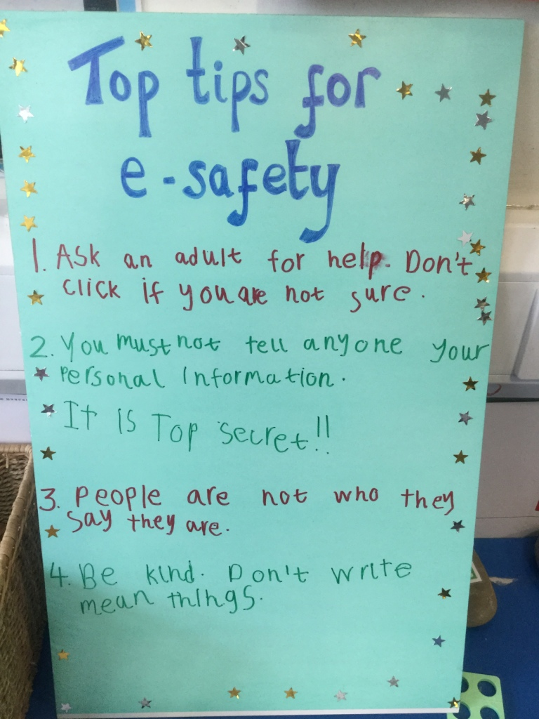 Our e-safety rules in Year 1M