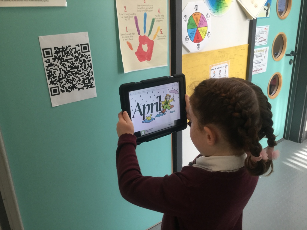 Our QR code trail, finding the months of the year