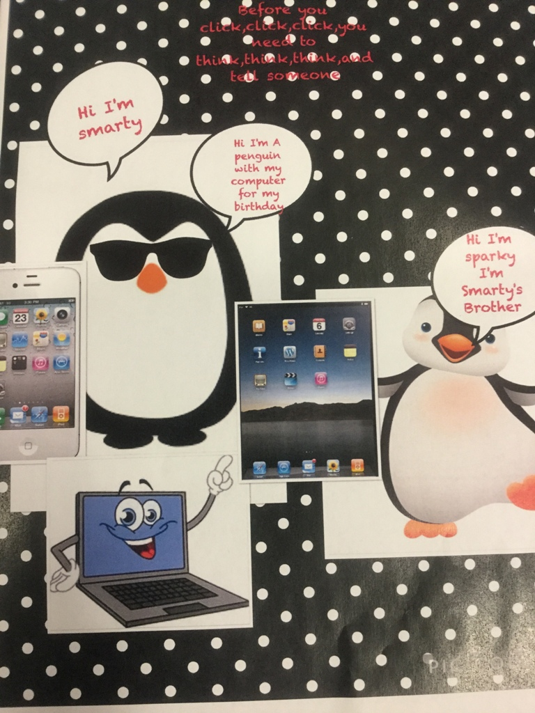 An e-safety poster by our Year 3 Digital Leader