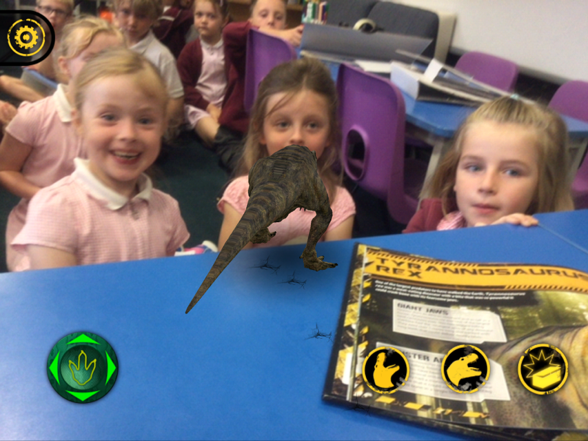 We love using our new dinosaur book with the iPad.